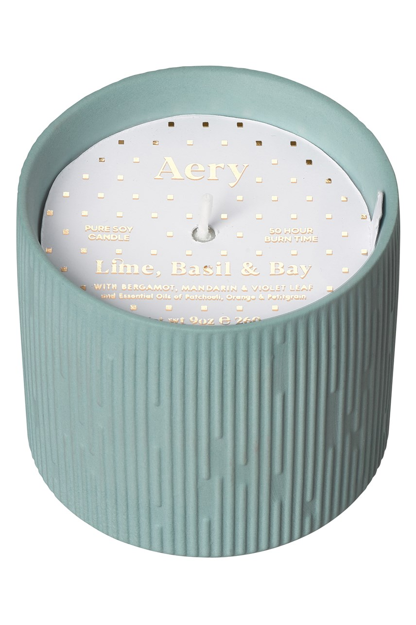 Clay Ceramic Plant Pot Candle - Lime, Basil & Bay