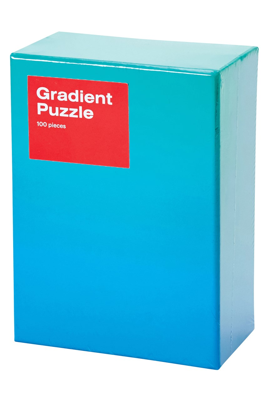 Small Gradient Puzzle - Blue Green
