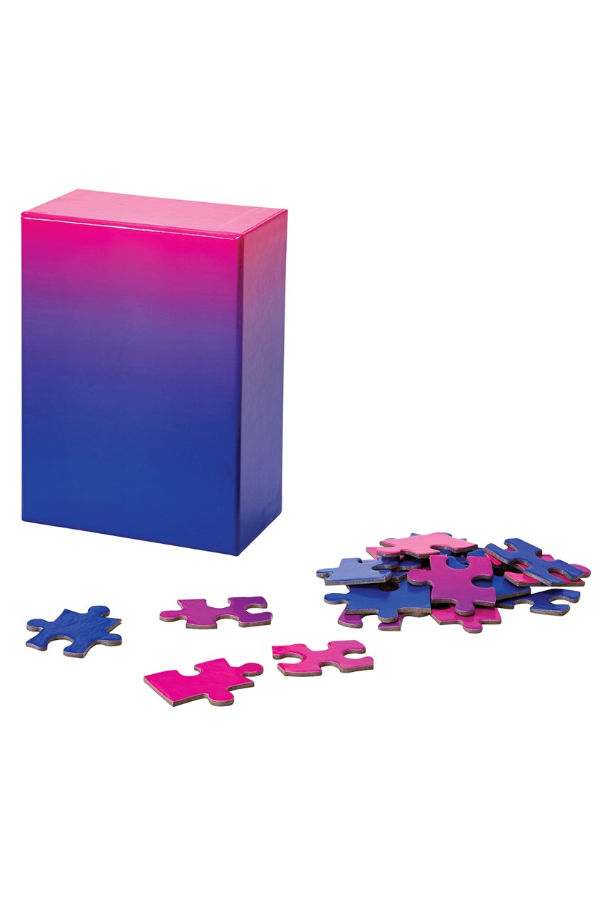 Small Gradient Puzzle - Blue Pink