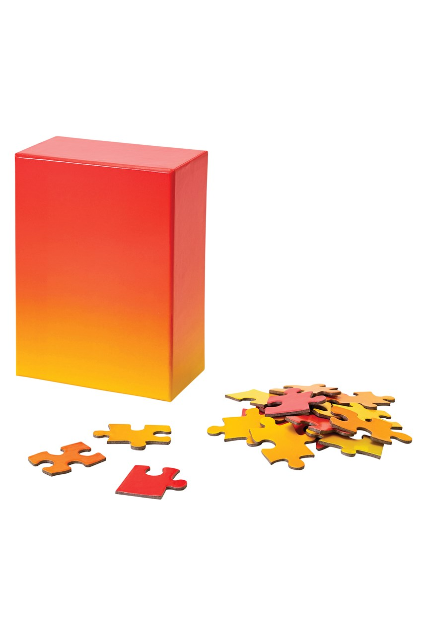 Small Gradient Puzzle - Red Yellow