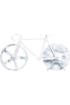 Fixie Pizza Cutter WHITE MARBLE 1