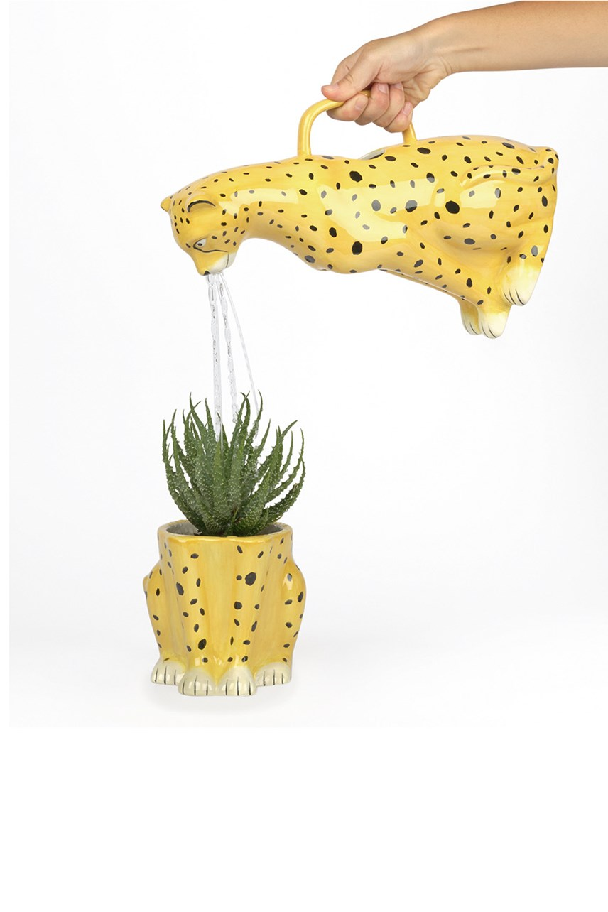 Urban Jungle Cheetah Watering Can