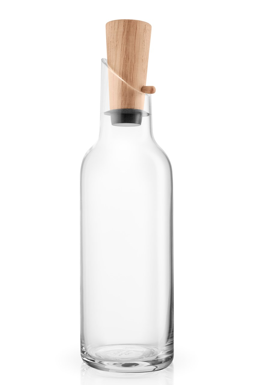 Glass Carafe With Wood Stopper