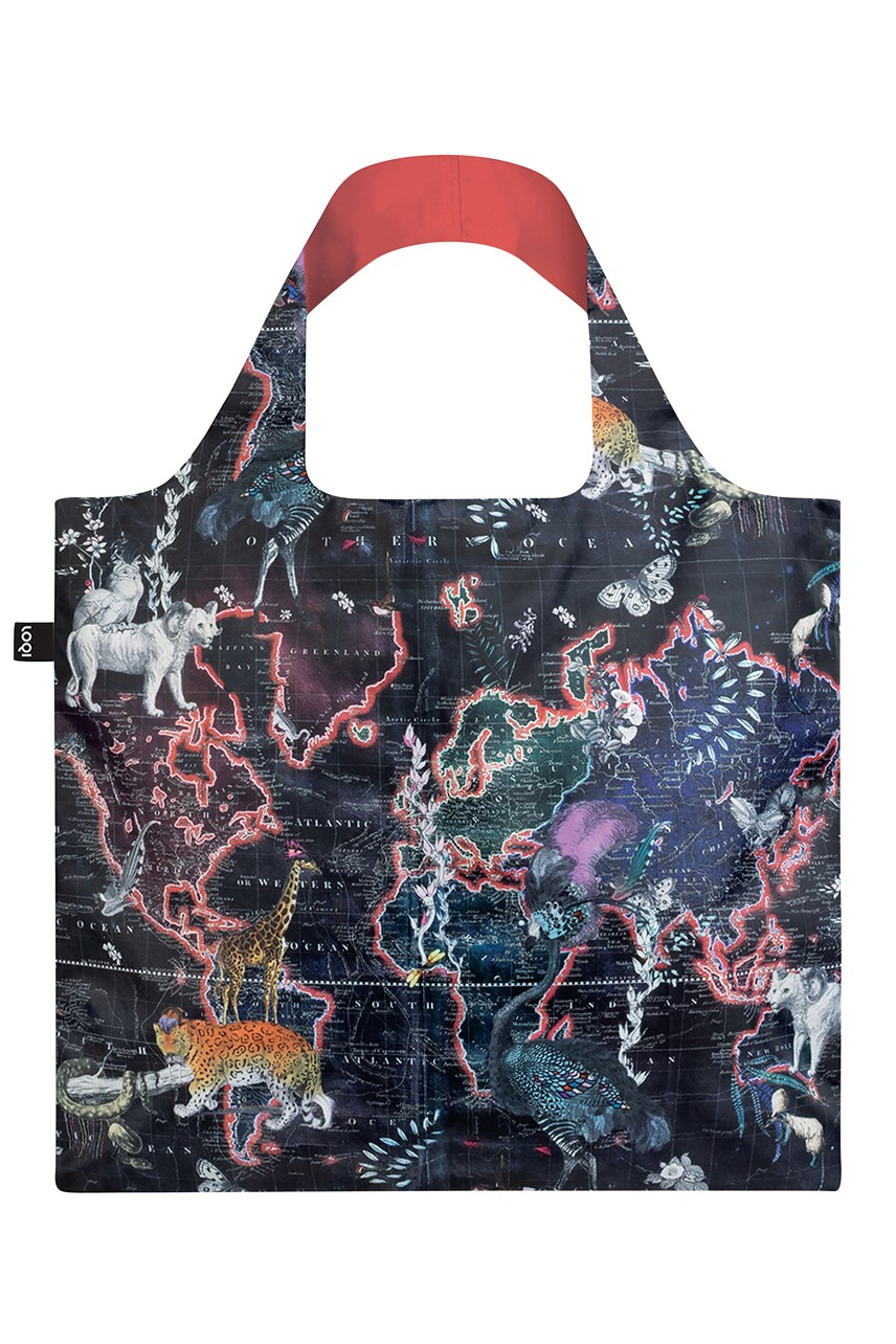 Reusable Shopping Bag - World Map