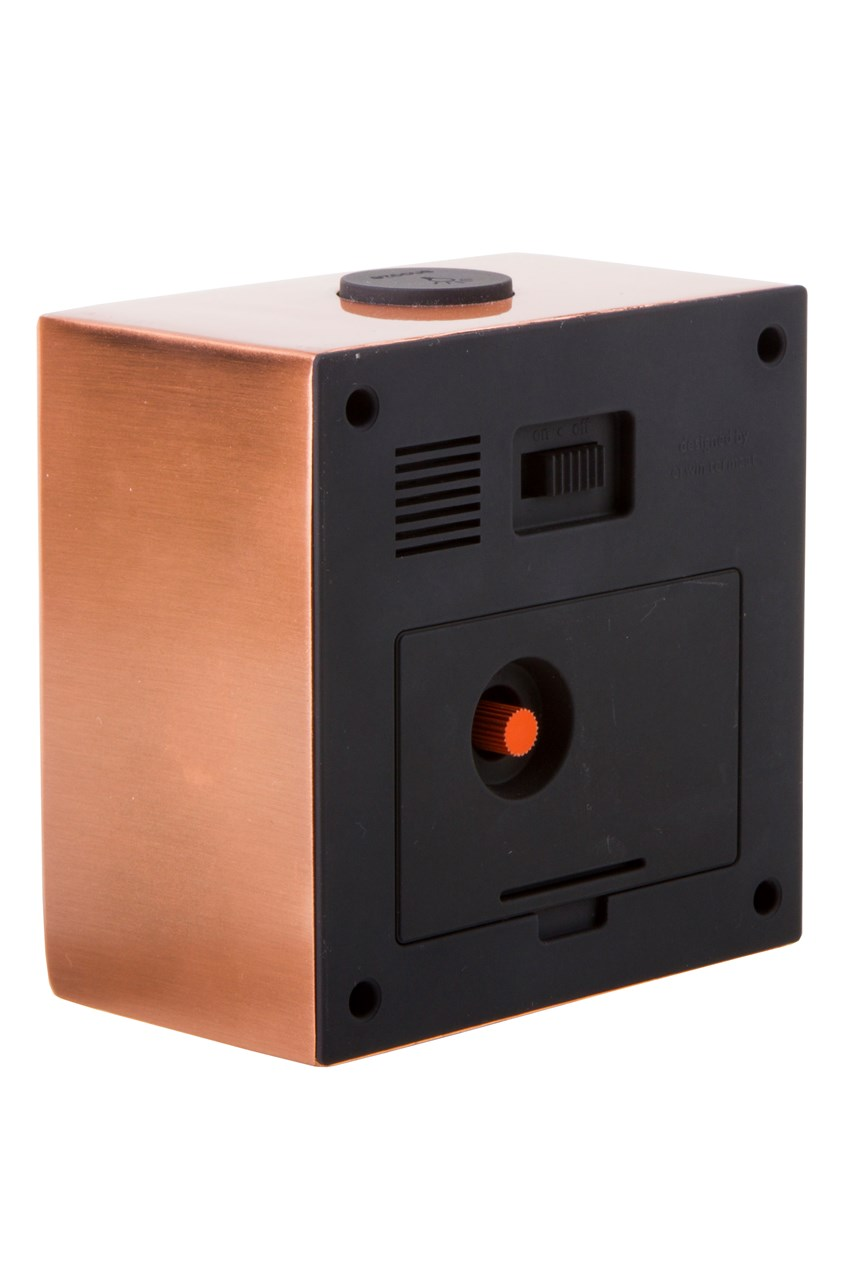 Block Copper Black Index Clock