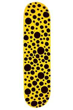 Kusama Skateboard BLACK 1