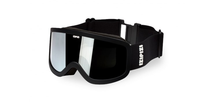 Sun Snow Black Snow Goggles  - Large
