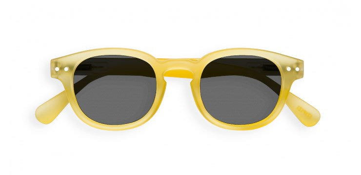 Sun Junior #C Yellow Chrome Sunglasses