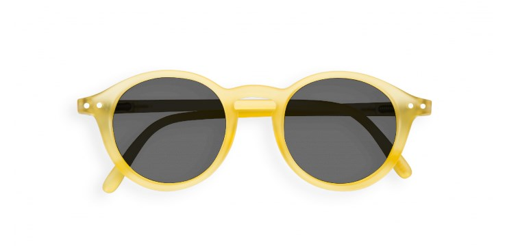 Sun Junior #D Yellow Chrome Sunglasses