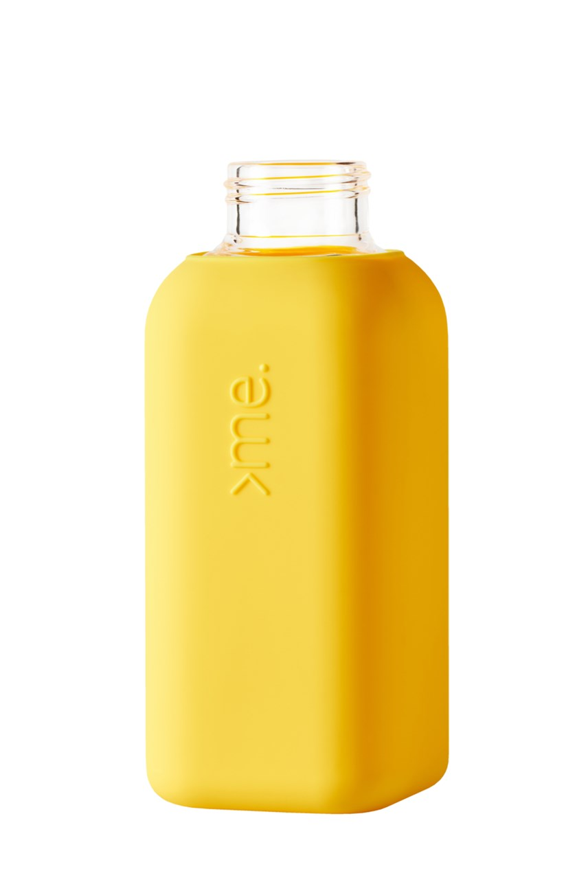 Glass Drink Bottle - Yellow