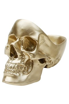 Skull Tidy Decorative Bowl GOLD 1