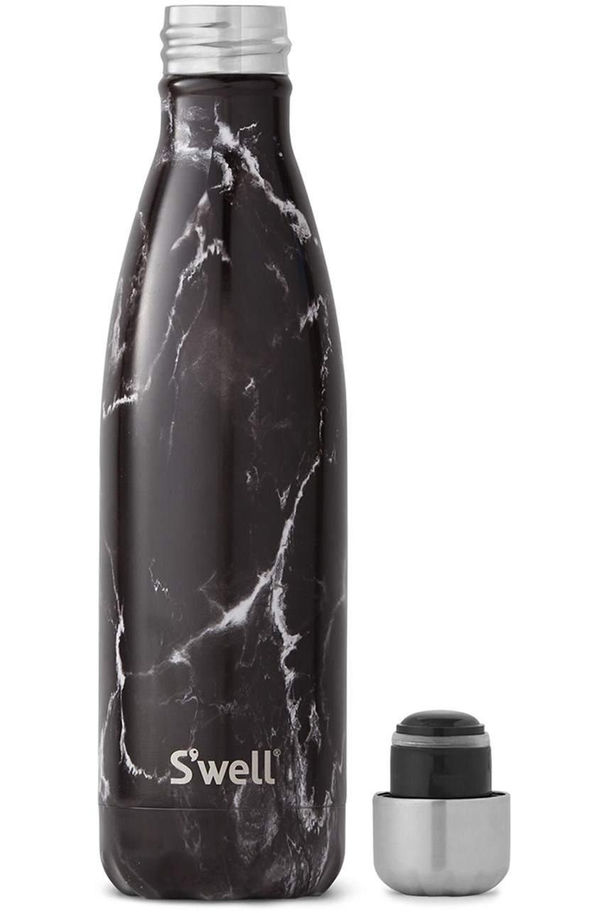 Elements Black Marble Drink Bottle