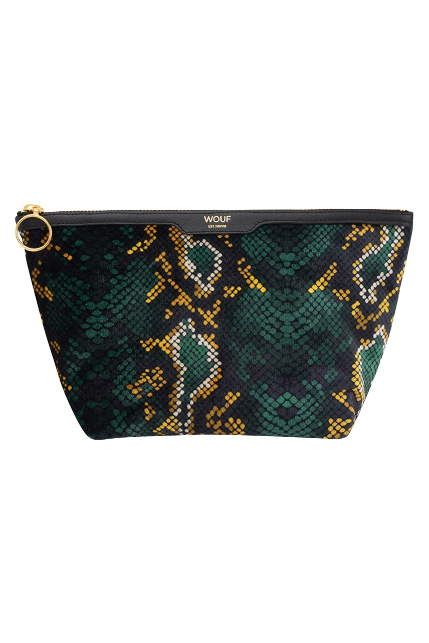Velvet Snakeskin Beauty Case