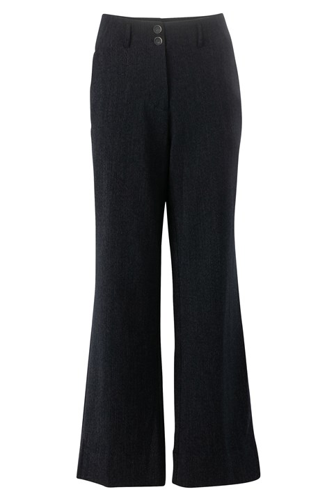 Solo Wide Leg Pant - dark ink