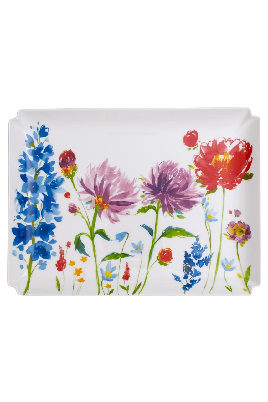 'Anmut' Flowers Large Decorative Plate