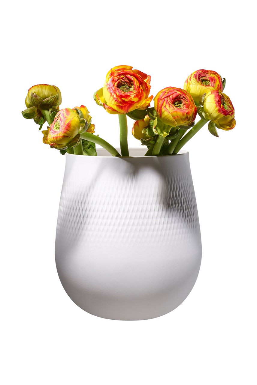 Collier Blanc Vase Carre