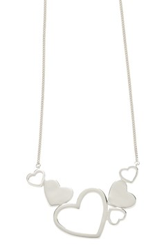 'Exploding Heart' Necklace - silver