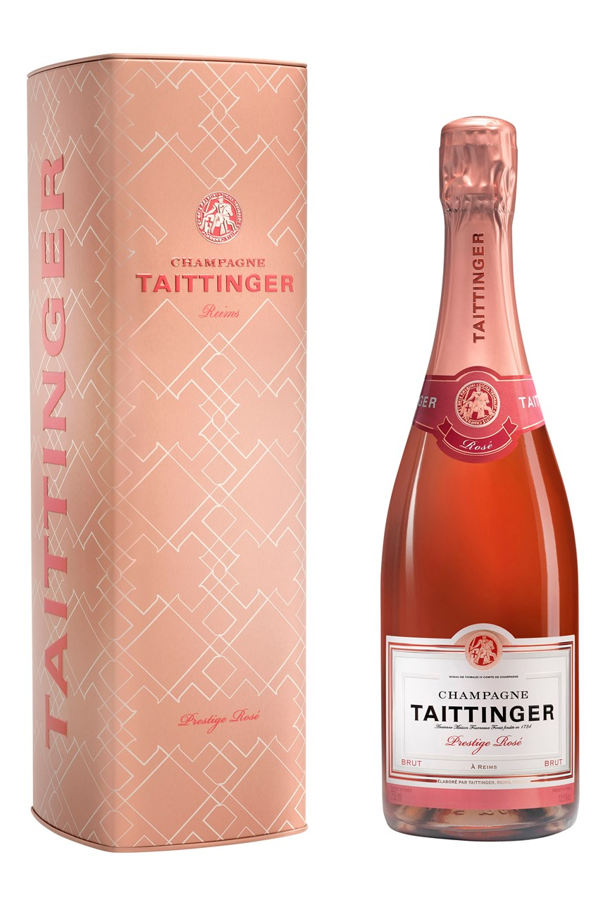 Taittinger Prestige Rosé in a Tin Gift Box
