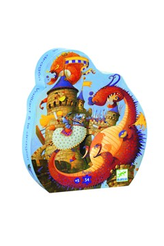 Vaillant & The Dragon 54-Piece Silhouette Puzzle 1