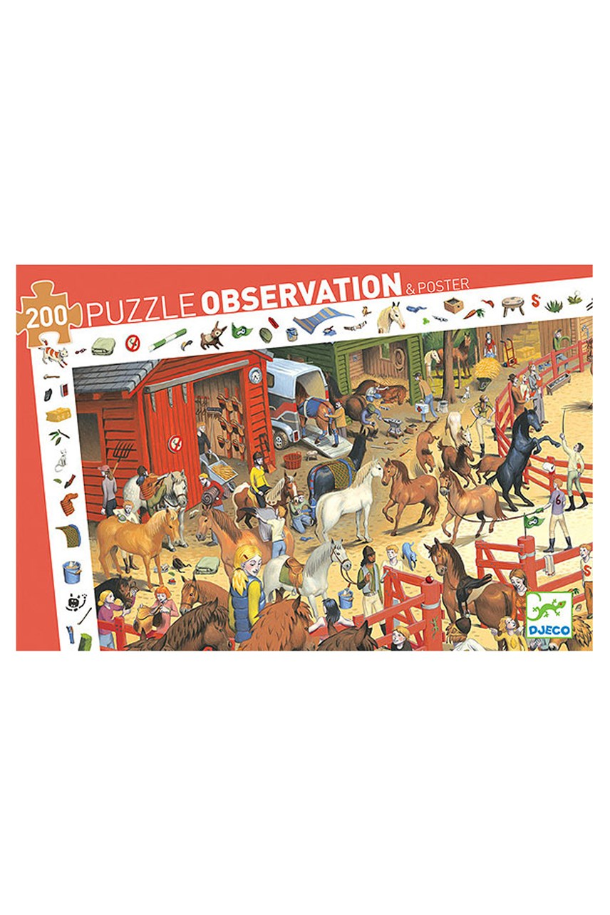 Horse Riding Obeservation Puzzle - 200 Pieces
