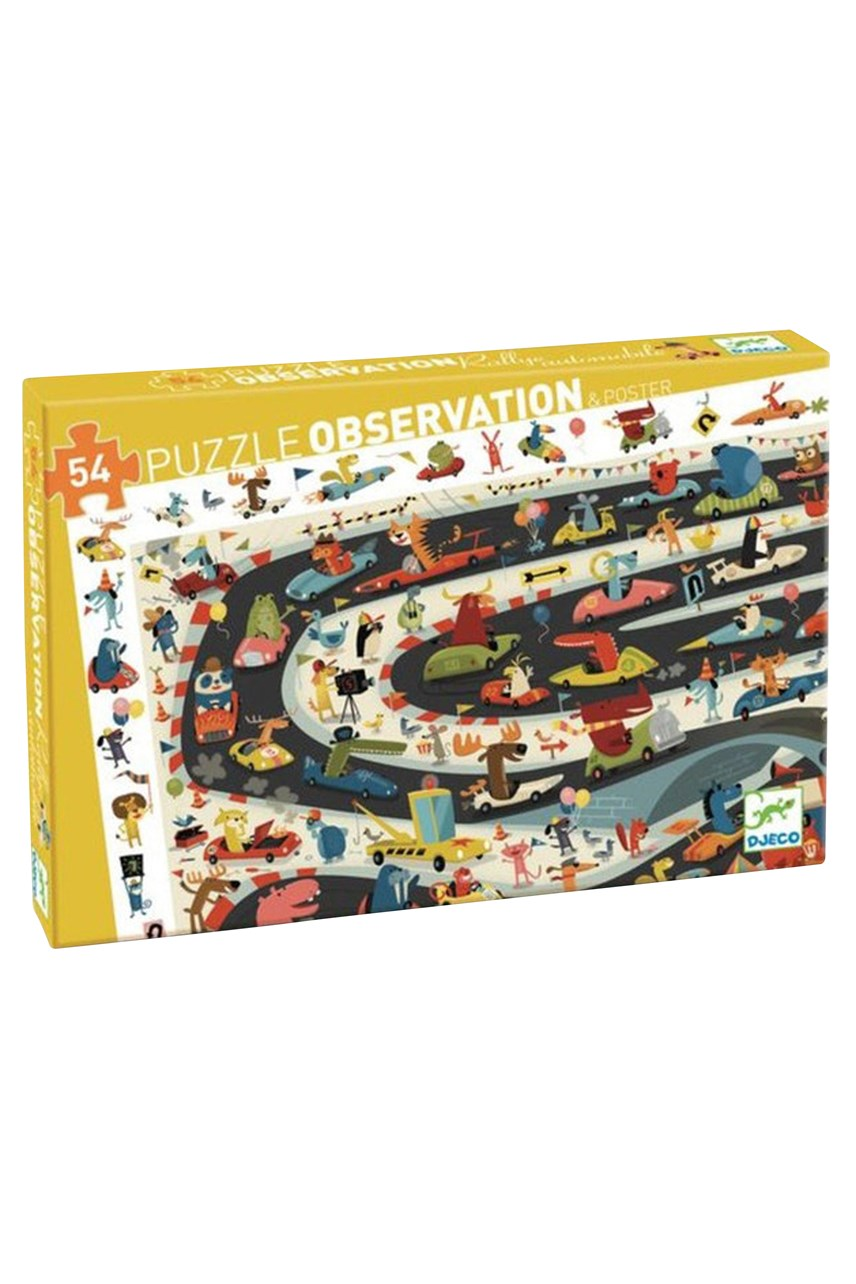 Car Rally Puzzle & Poster - 54 Pieces