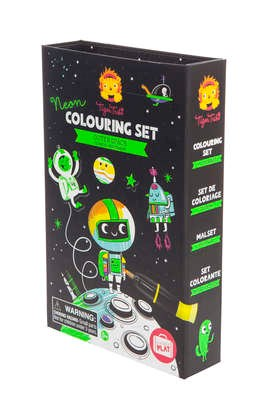 Neon Outer Space Colouring Set