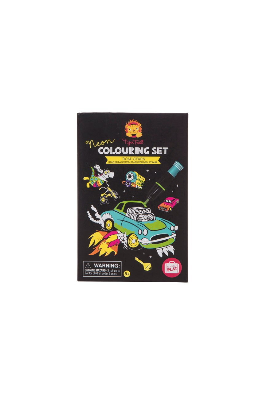 Road Stars Neon Colouring Set