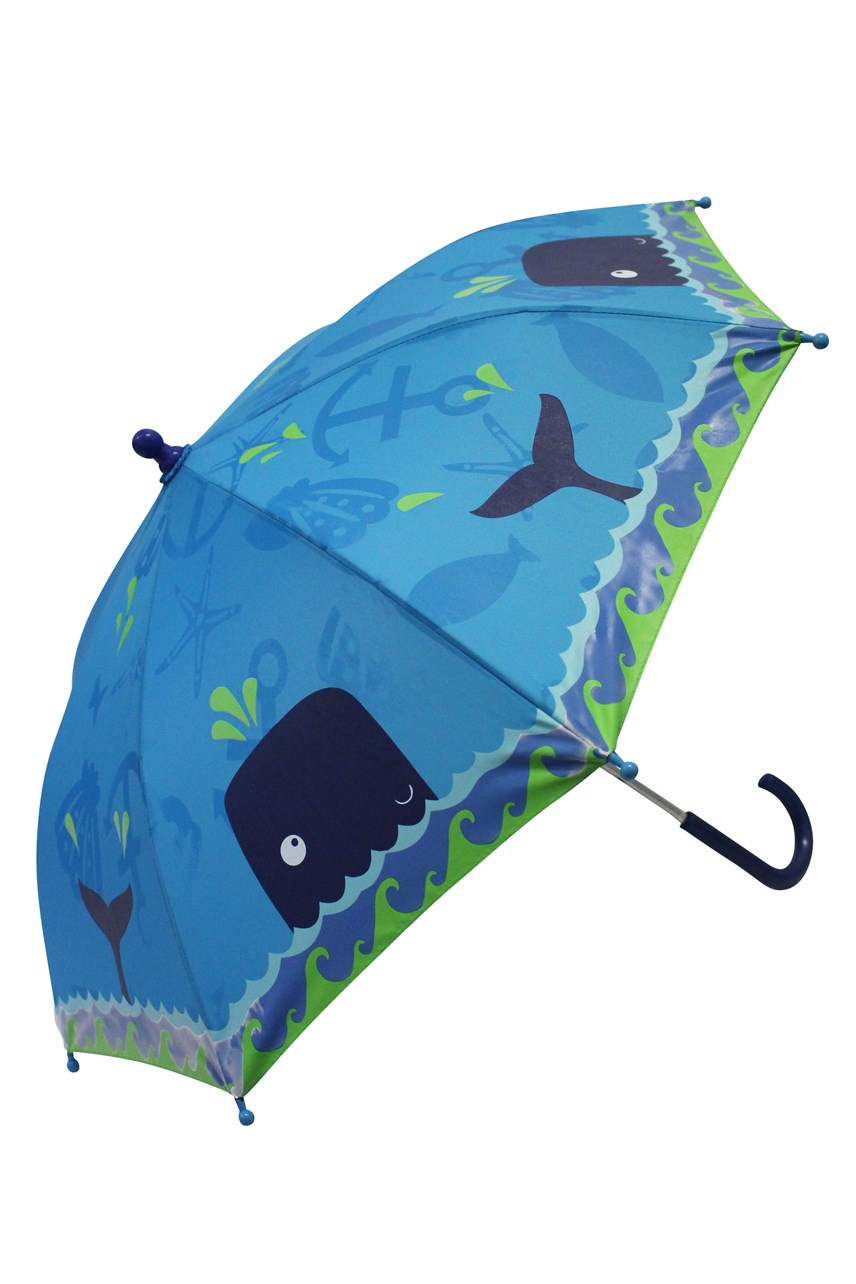Colour Changing Kids Umbrella - Whales