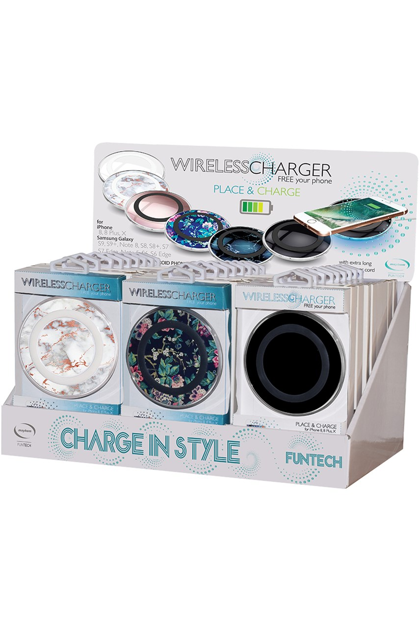 Wireless Phone Charger - Black Marble