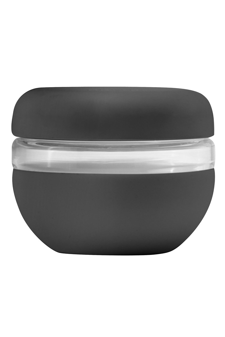 The Porter Glass Bowl - Charcoal