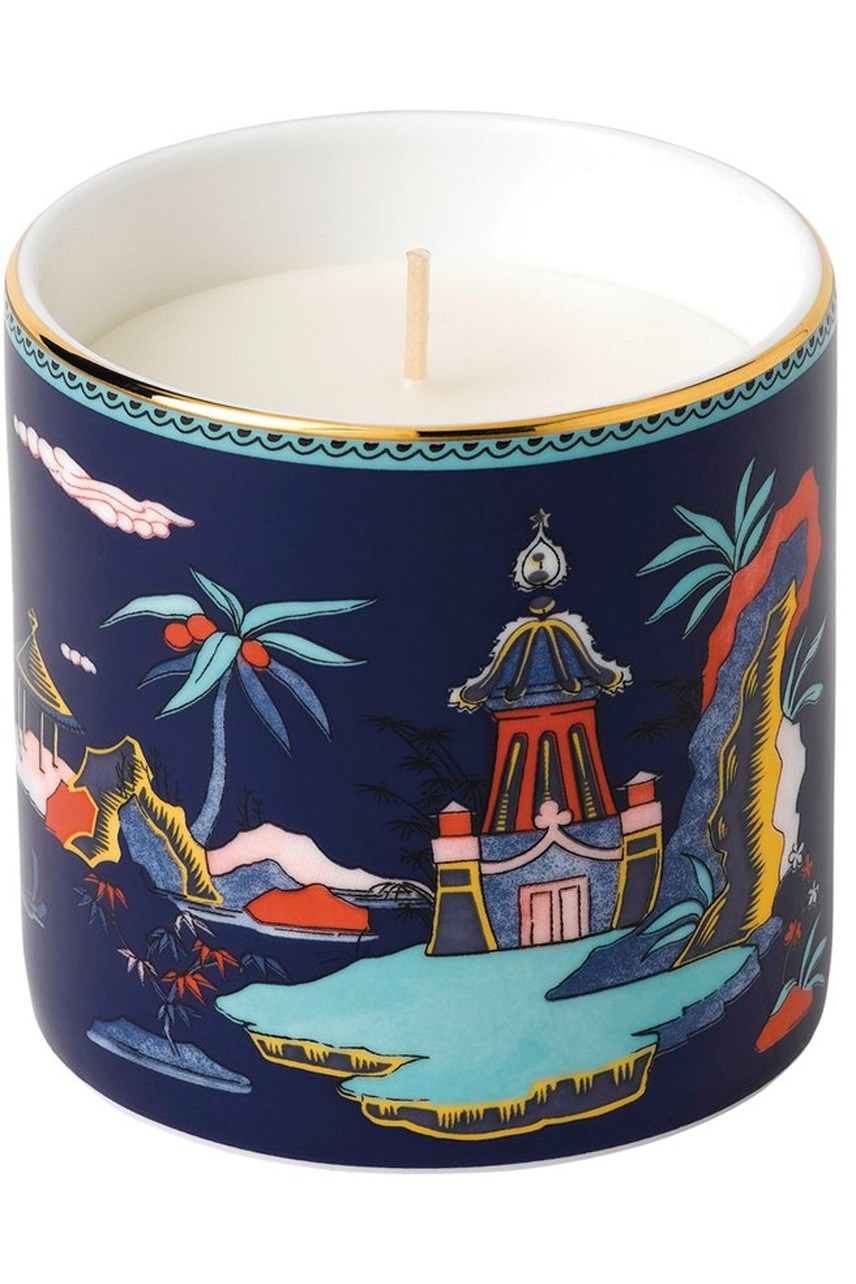Wonderlust Blue Pagoda Candle