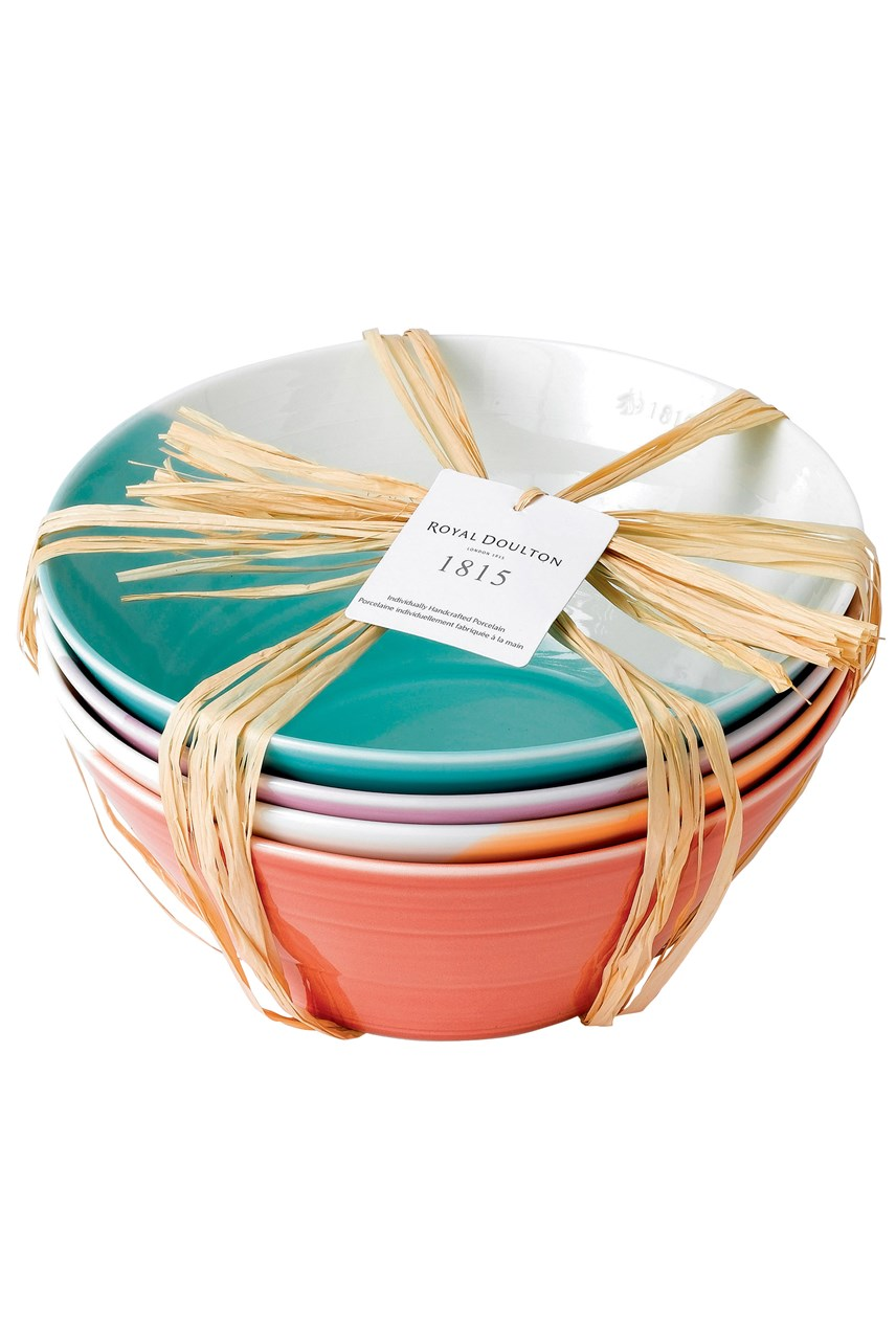 1815 Bright Noodle Bowls Set of 4