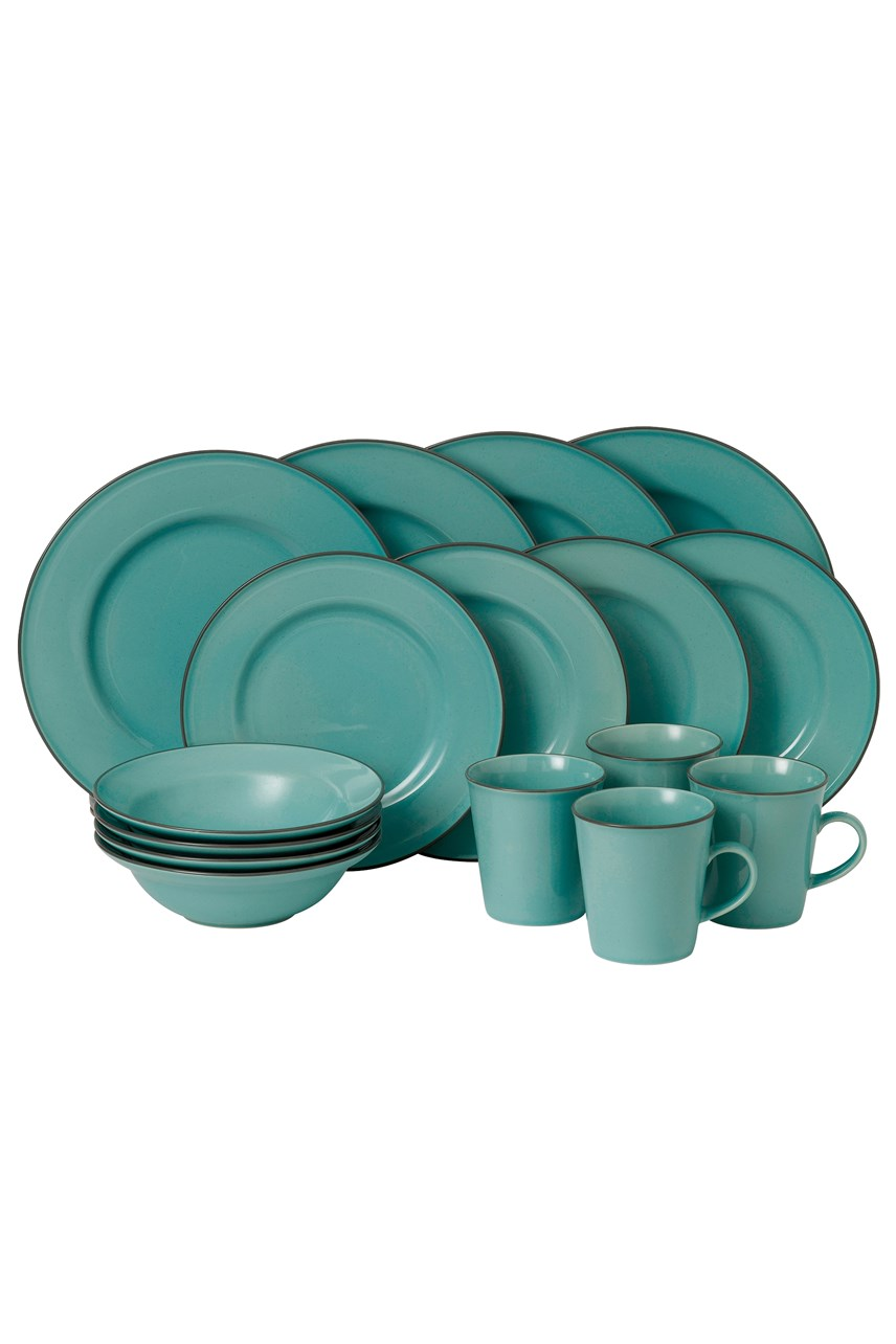 Union Street Café Blue 16 Piece Set