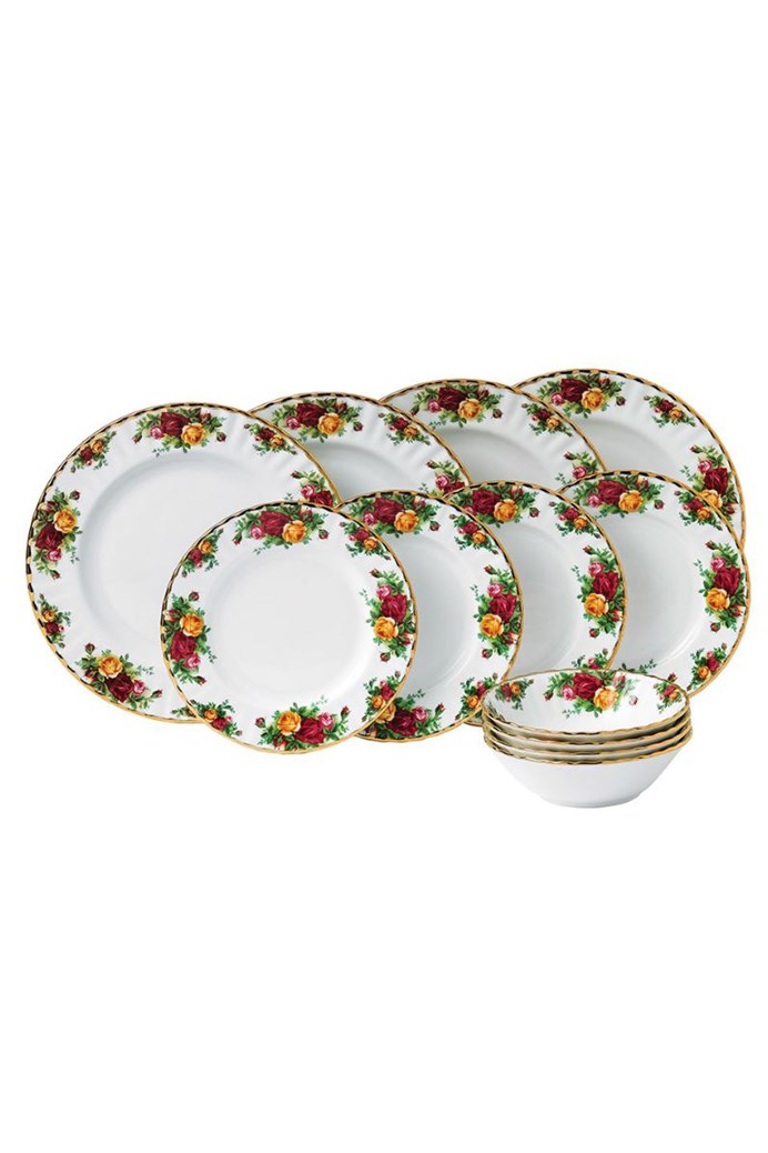 Old Country Roses 12 Piece Set - ROYAL ALBERT - Smith   Caughey s ... 40485209ad