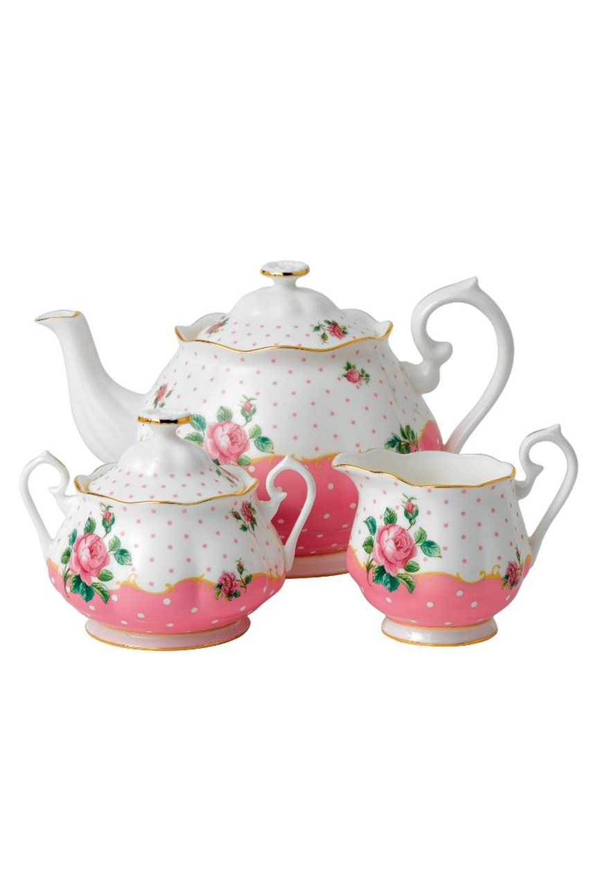 Cheeky Pink Teapot Sugar Creamer Set