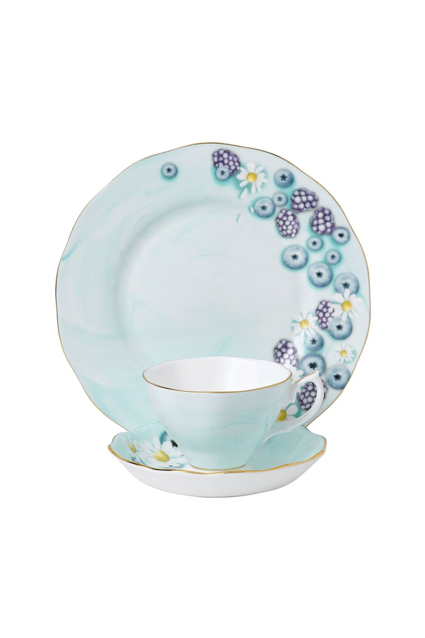 Alpha Foodie Teacup Saucer & Plate Set