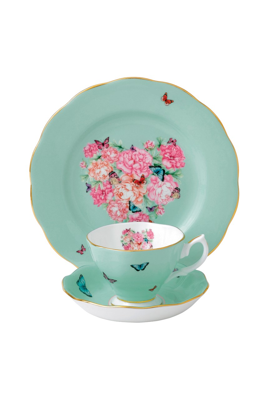 'Blessings' Teacup, Saucer & Plate