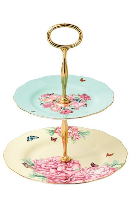 Blessings 2-Tier Cake Stand - multicoloured
