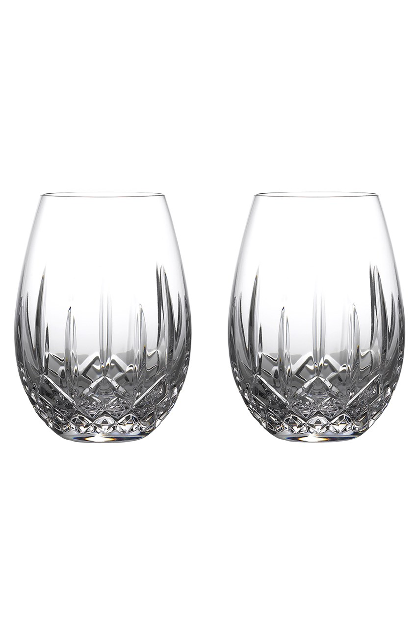 Lismore Nouveau Stemless Deep Red Wine Pair