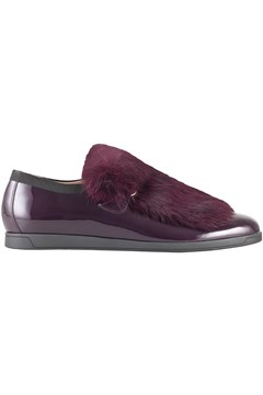 Chinchilla Faux Fur Shoe PURPLE 1