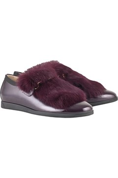 Chinchilla Faux Fur Shoe - purple