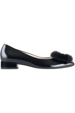 Ballet Shoe With Faux Fur BLACK 1