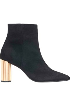 Suede Ankle Boot With Metal Heel BLACK 1