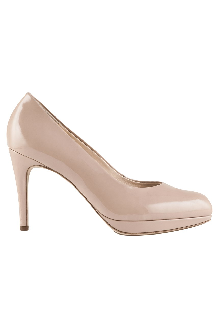 Leather High Heel Court Shoe