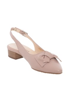 Sling Back With Bow - mauve
