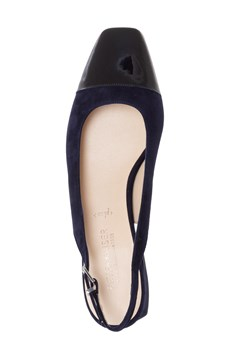 Slingback With Toe Detail - navy