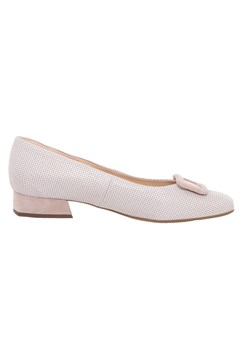 Low Court Shoe With Buckle - mauve