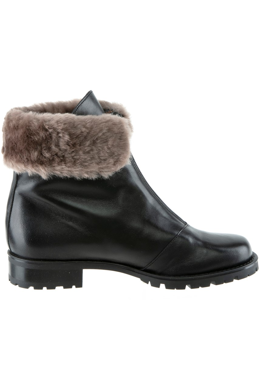 Ankle Boot With Faux Fur