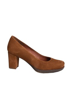 Axel Velours Court Shoe COGNAC 1