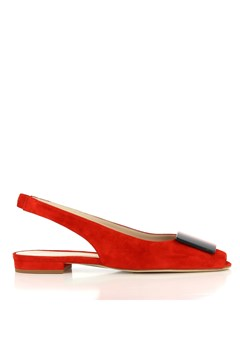 Flat Sling Back RED 1
